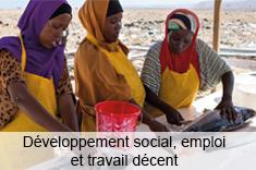 Développement social, emploi et travail décent