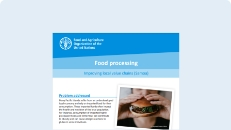 Cover of the Food processing publication