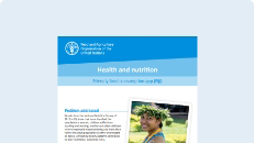 Health and nutrition: Friendly food consumption app (Fiji)