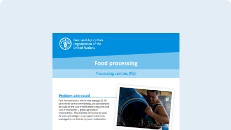 Food processing: Processing centres (Fiji)