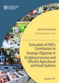 Evaluation of FAO's Contribution to Strategic Objective 4: Enabling Inclusive and Efficient Agricultural and Food Systems