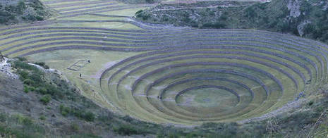 "The ""Andenes"" are ancient stepped terraces, used by Andean farmers to plant their crops. © FAO/Liana John"