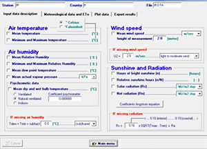 Shuttleworth-wallace evapotranspiration calculator, rosa d.