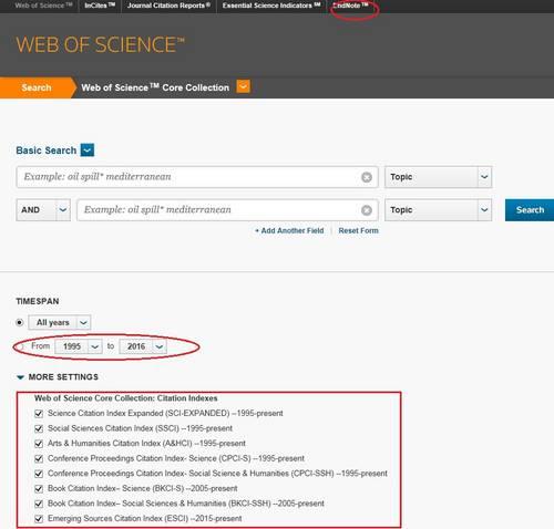 David Lubin Memorial Library: Web of Science package