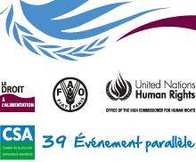 CSA 39 Événement parallèle sur le droit à l'alimentation